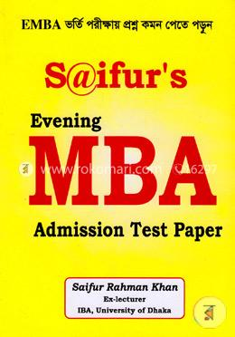 Saifur's: Evening MBA Admission Test Paper